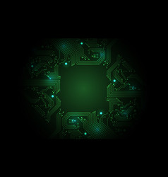 Technology green circuit mainboard computer vector