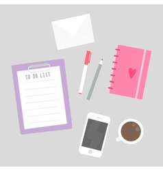Things on table vector