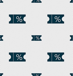 Ticket discount icon sign seamless abstract vector