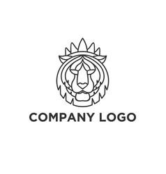 Tiger face logo designs vector