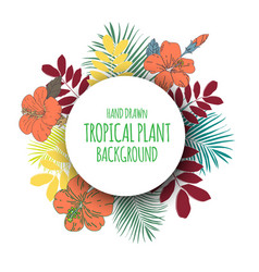 tropical floral bunch 2 vector image
