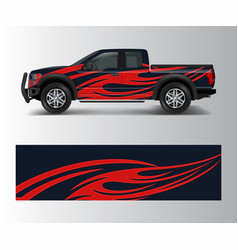 Truck and car graphic background wrap and vinyl vector