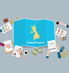 Uk united kingdom economy country growth nation vector