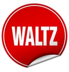 Waltz round red sticker isolated on white vector