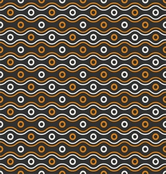 Waves and circles pattern vector