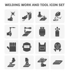 welding work icon vector image
