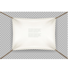 white cloth banner with text space on transparent vector image