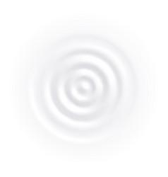 white milk splash circle wave yogurt cream vector image