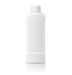 White plastic bottle for dishwashing liquid vector image