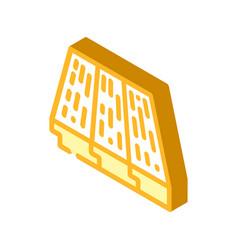 Wood layer floor isometric icon vector