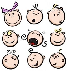 children emotions vector image