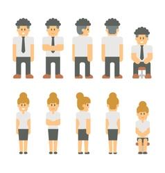 Flat design business people set vector image