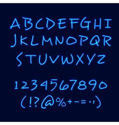 Hand Lettering Neon Style Blackboard Poster vector image vector image