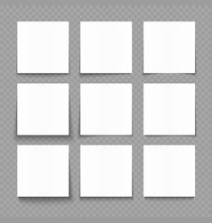 notepad blank sheets of white paper with shadow vector image