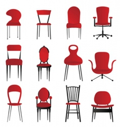 red chairs vector image vector image