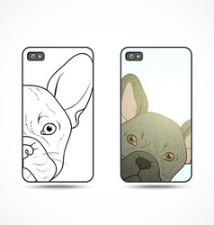 Set 2 covers ready-made templates for phone with vector image