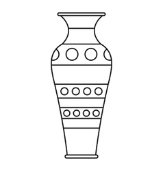 Vase icon outline style vector image vector image