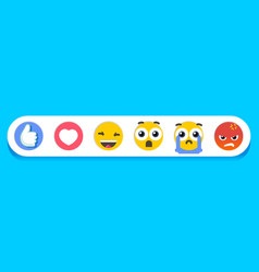 eps cheerful emoticons vector image