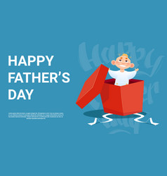 Happy father day family holiday small son in vector