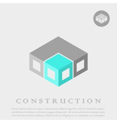 Isometric cube construction vector image