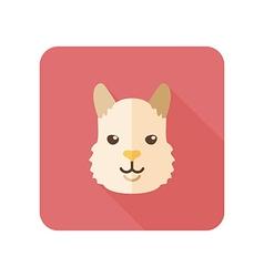 Lama flat icon Animal head symbol vector image