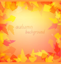leaves in warm colors vector image vector image
