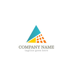 triangle technology logo vector image vector image