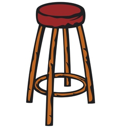 wooden bar chair vector image vector image