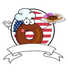 Cartoon donuts vector image vector image