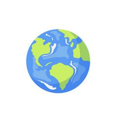 cartoon flat globe isolated vector image