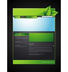 eco web layout vector image vector image