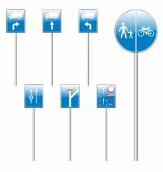 European road signs vector image vector image