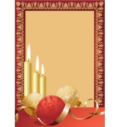 scroll candles border vector image vector image