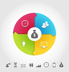 Set business infographic icons minimal style vector image vector image