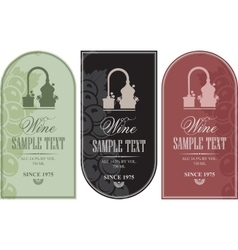 set label for wine vector image vector image