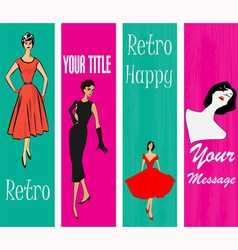 1950s Style Retro Banners vector image vector image