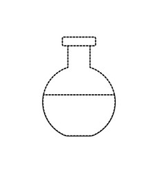 dotted shape erlenmeyer flask to lab chemical vector image vector image