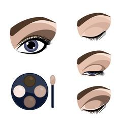 eye makeup vector image vector image