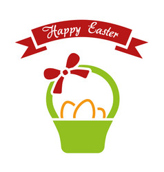 Happy easter simple vector