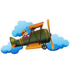 A boy on a plane vector