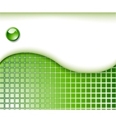 abstract green business card template vector image