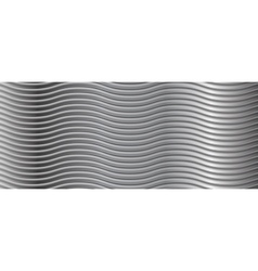 Abstract metallic wavy stripes background vector image