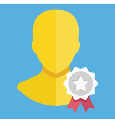 Account Award Icon vector image