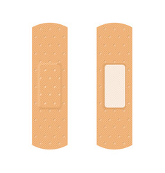 adhesive plasters set on white background vector image