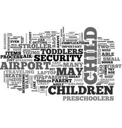 air travel tips for parents of young children vector image