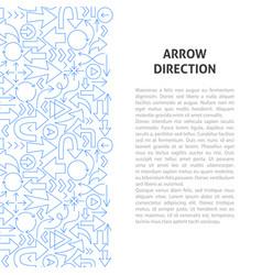 arrow direction line pattern concept vector image