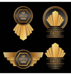 Art Deco Awards vector