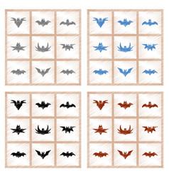 assembly flat shading style icons halloween bat vector image