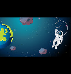 Astronaut floating in space vector