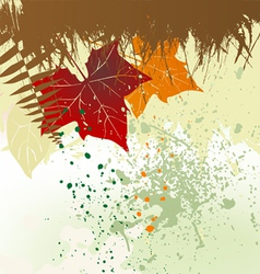 Autumn background with a space for a text vector image